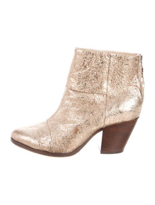 Rag & Bone Leather Boots Gold