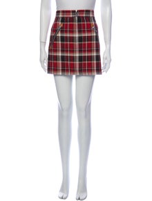 Rag & Bone Plaid Print Mini Skirt