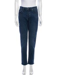 Rag & Bone Mid-Rise Straight Leg Jeans