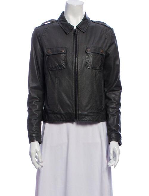 Rag & Bone Leather Jacket Green - image 1