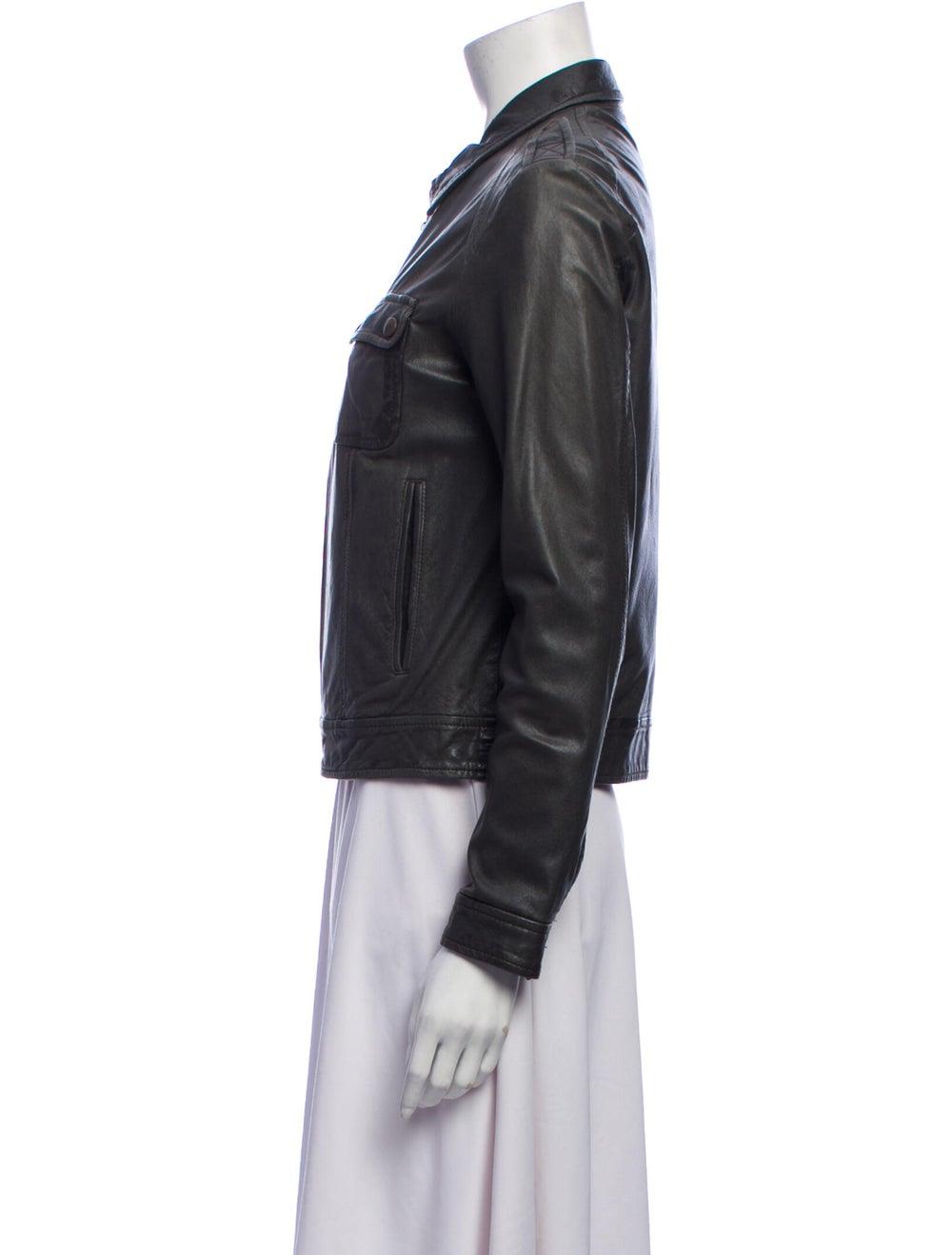 Rag & Bone Leather Jacket Green - image 2