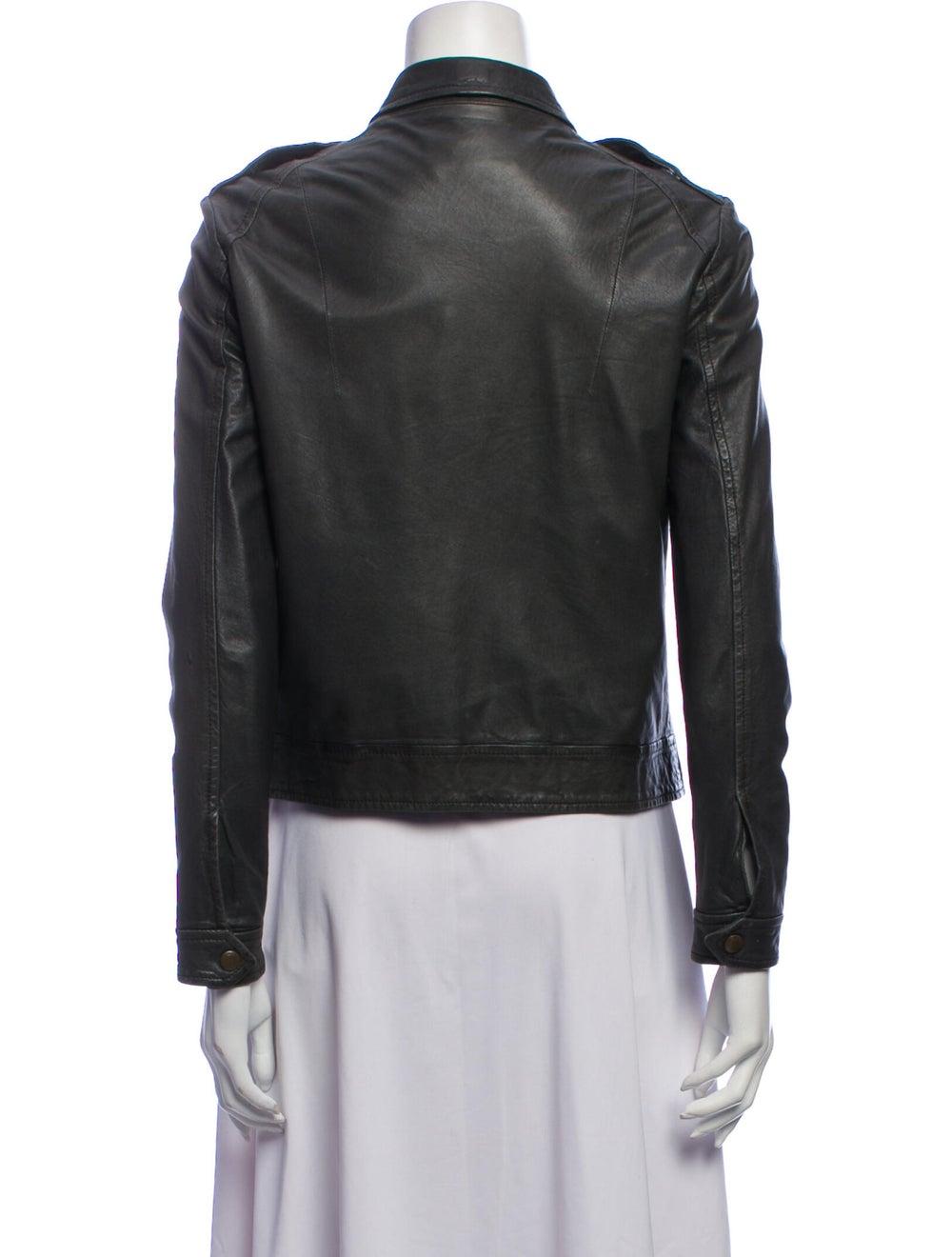 Rag & Bone Leather Jacket Green - image 3