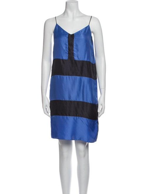 Rag & Bone Silk Mini Dress Blue - image 1