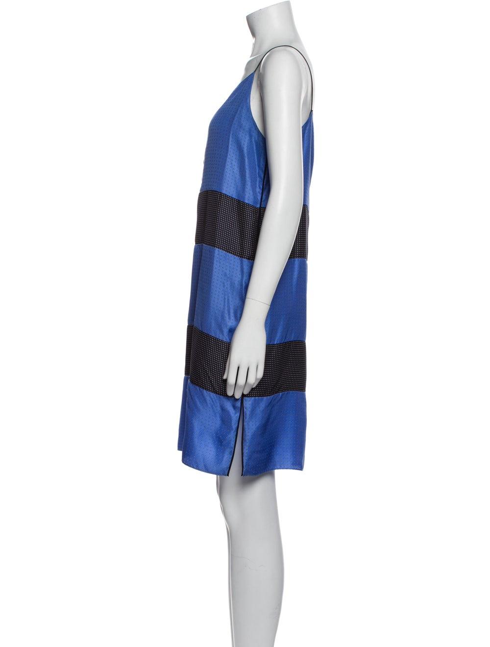 Rag & Bone Silk Mini Dress Blue - image 2