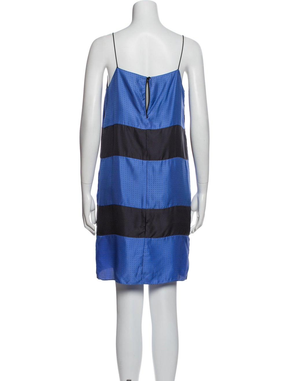 Rag & Bone Silk Mini Dress Blue - image 3