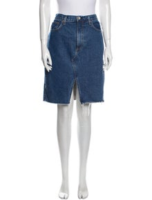 Rag & Bone Raw-Edge Trim Knee-Length Skirt