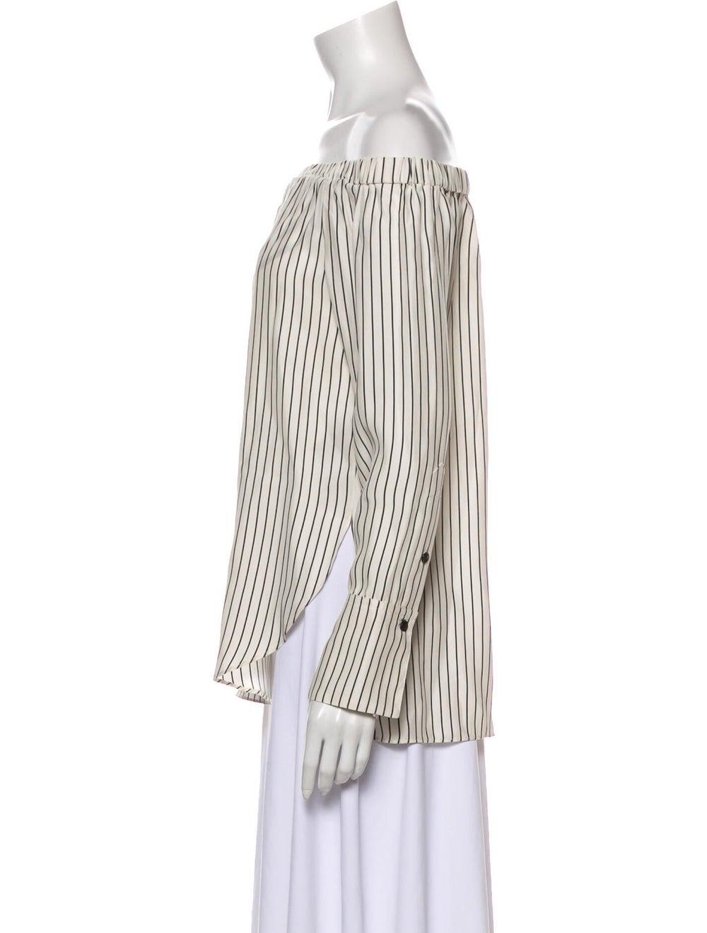 Rag & Bone Silk Striped Blouse - image 2