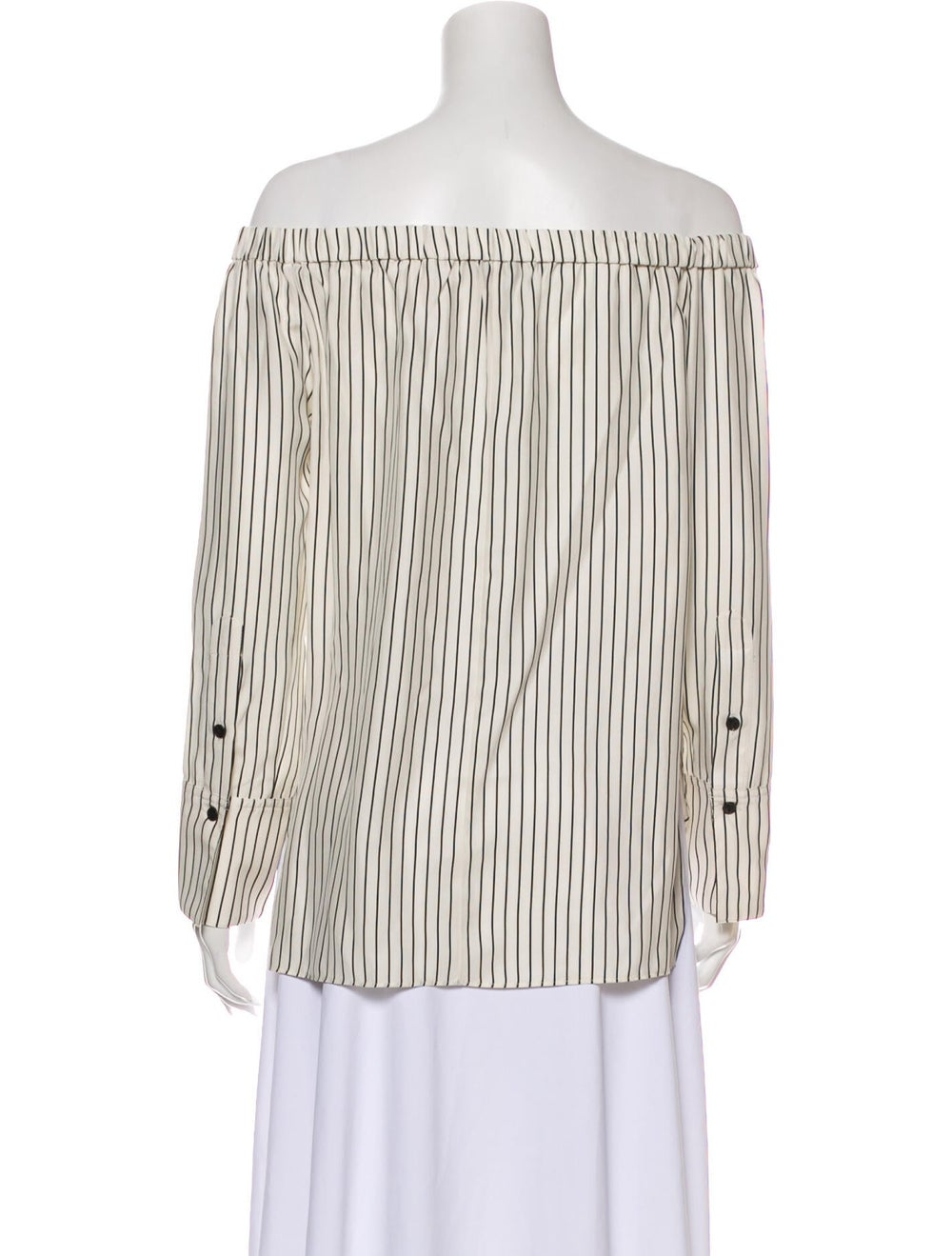 Rag & Bone Silk Striped Blouse - image 3