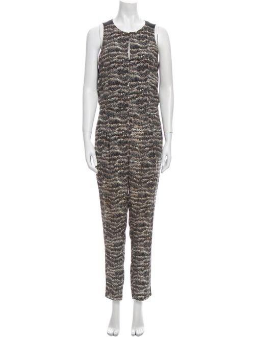 Rag & Bone Silk Printed Jumpsuit - image 1