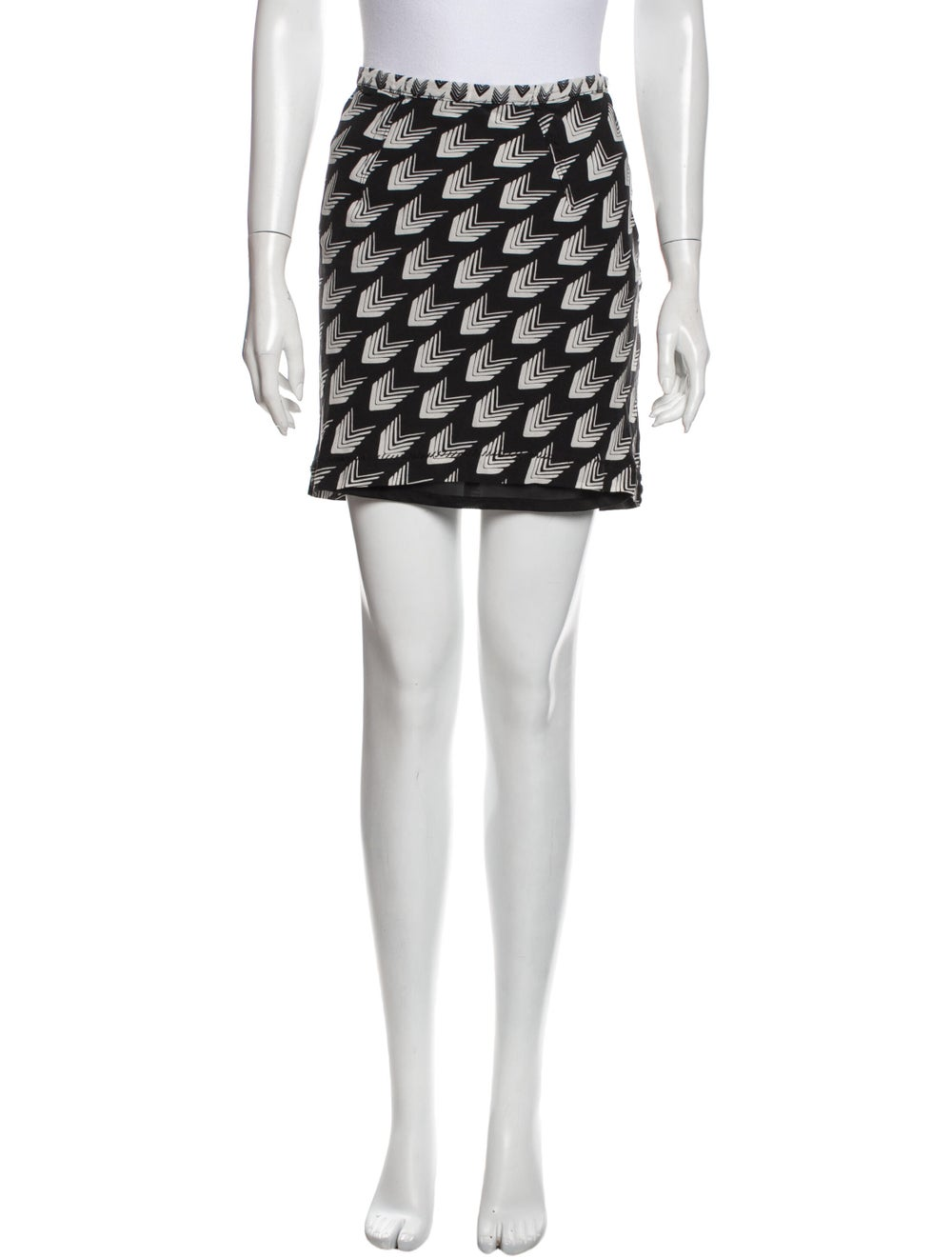 Rag & Bone Silk Mini Skirt Black - image 1