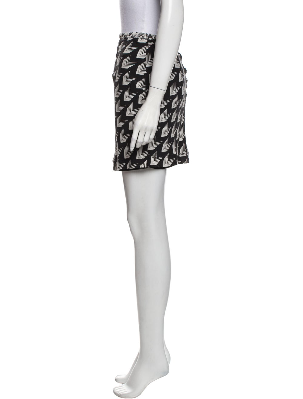 Rag & Bone Silk Mini Skirt Black - image 2