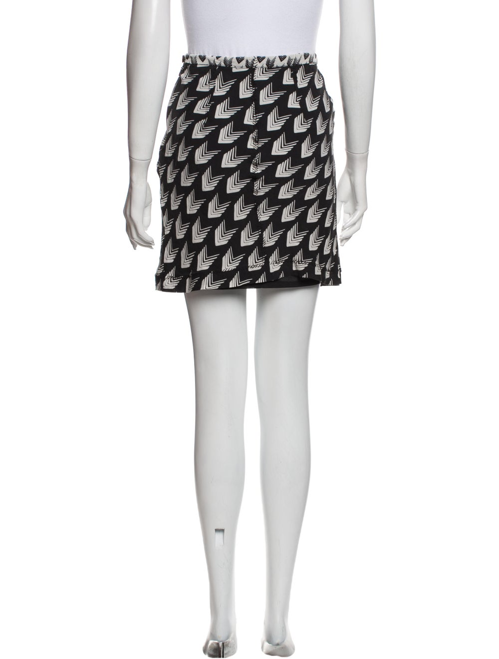 Rag & Bone Silk Mini Skirt Black - image 3