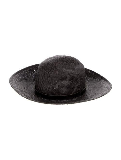 Rag & Bone Straw Wide Brim Hat Grey - image 1