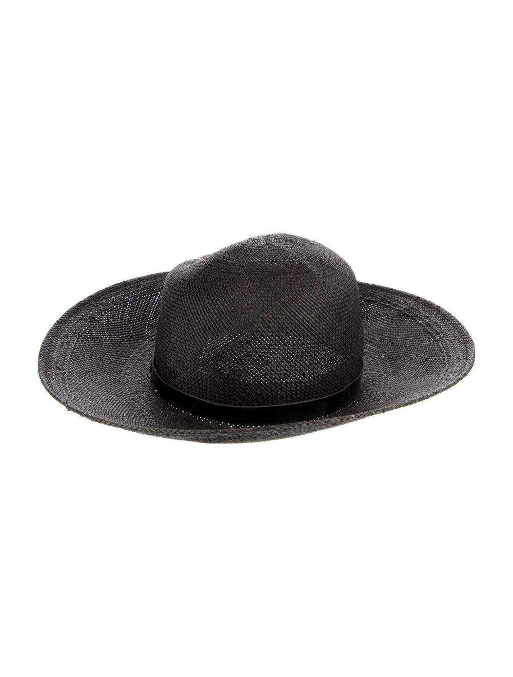 Rag & Bone Straw Wide Brim Hat Grey - image 2