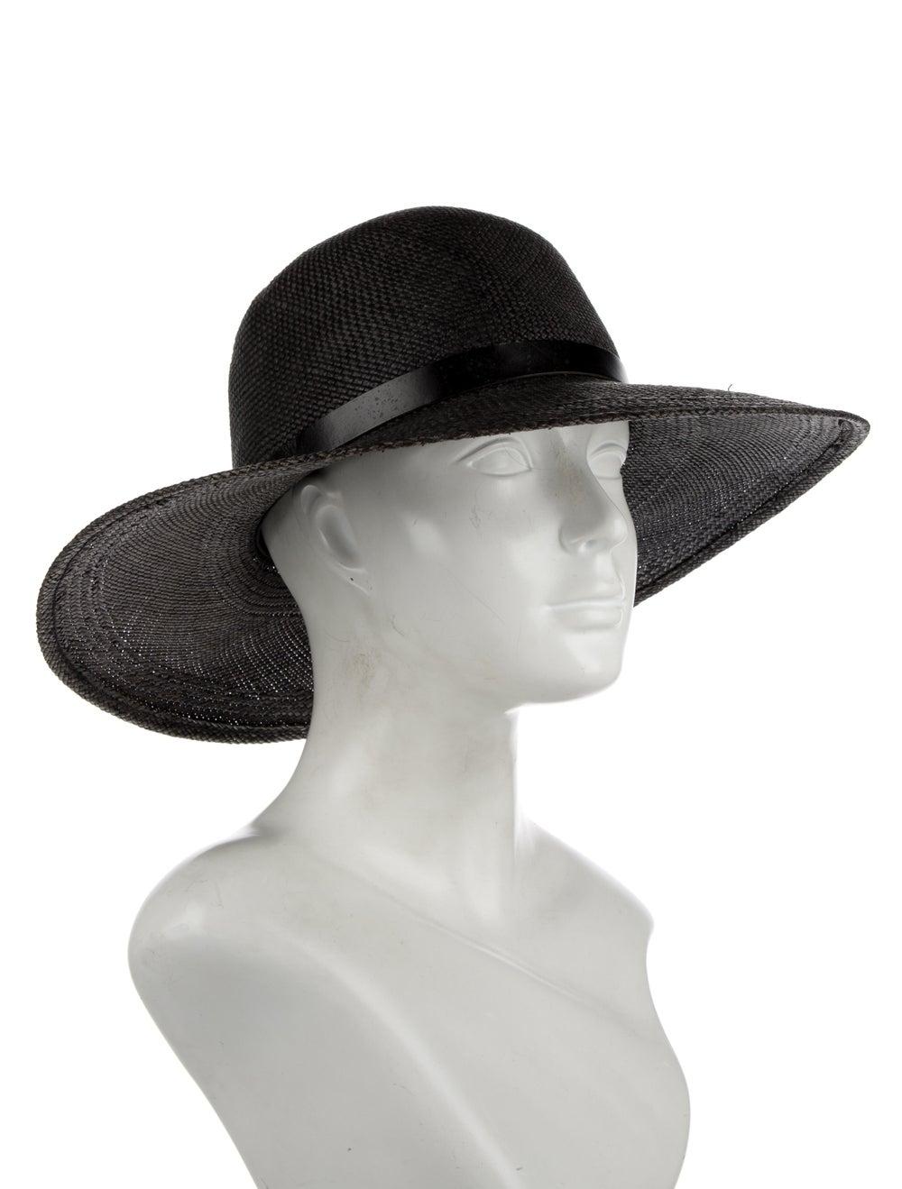 Rag & Bone Straw Wide Brim Hat Grey - image 3