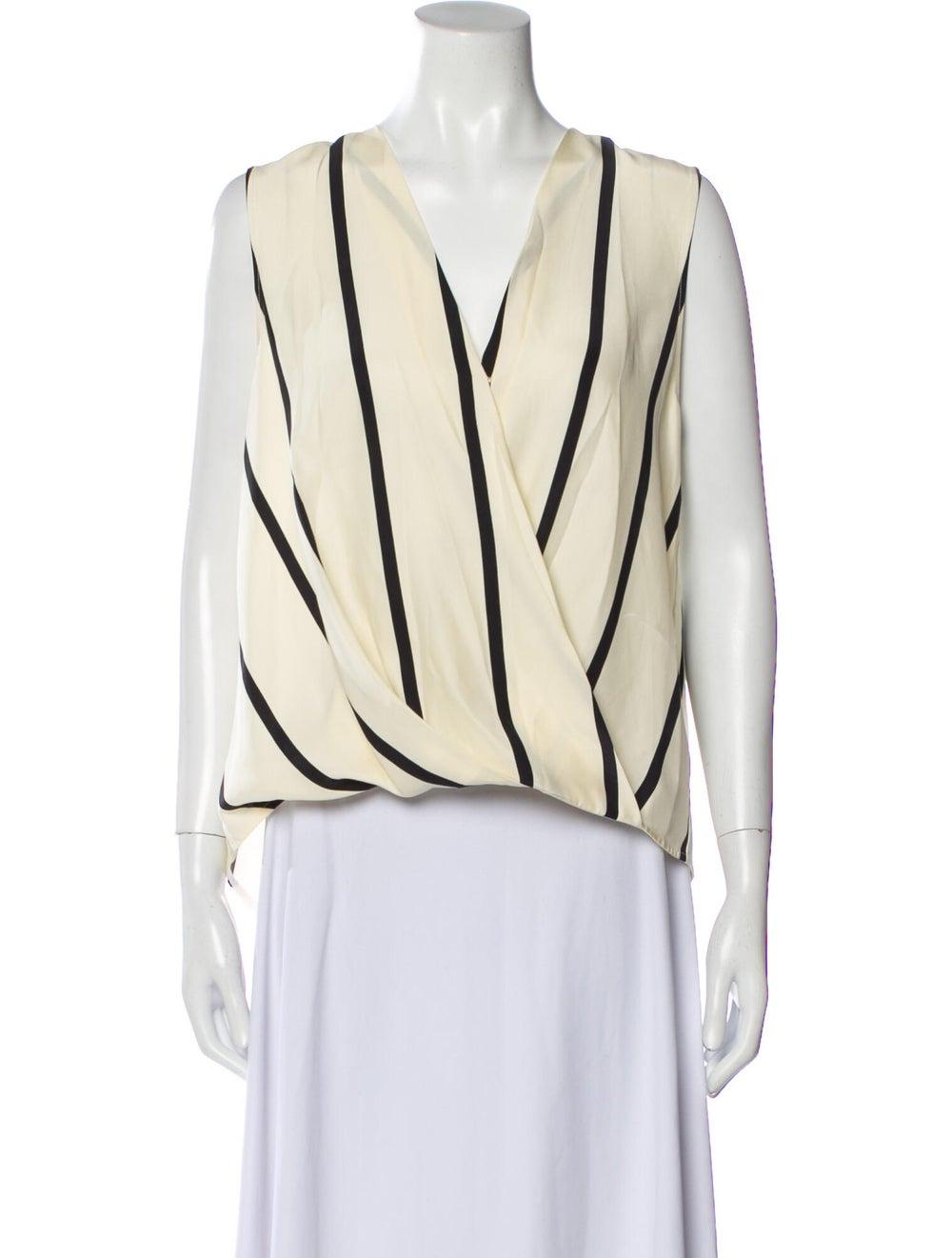 Rag & Bone Silk Striped Blouse - image 1