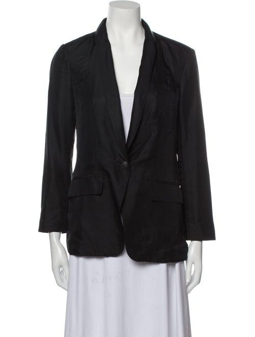 Rag & Bone Silk Blazer Black - image 1