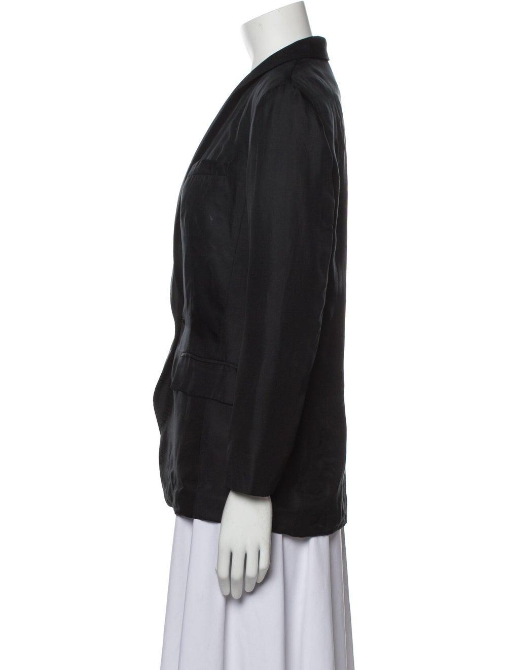 Rag & Bone Silk Blazer Black - image 2