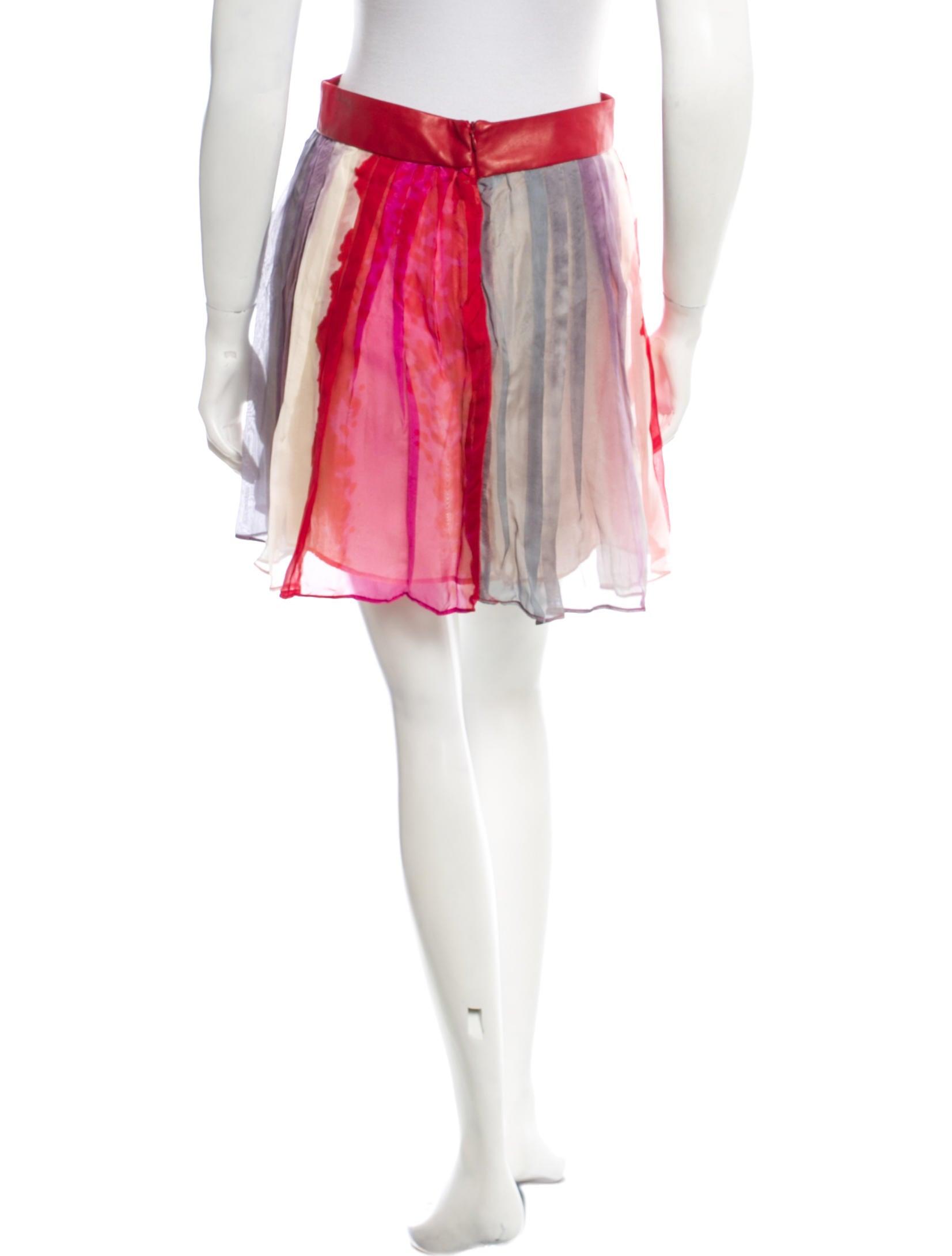 rag bone pleated sheer skirt clothing wragb39904