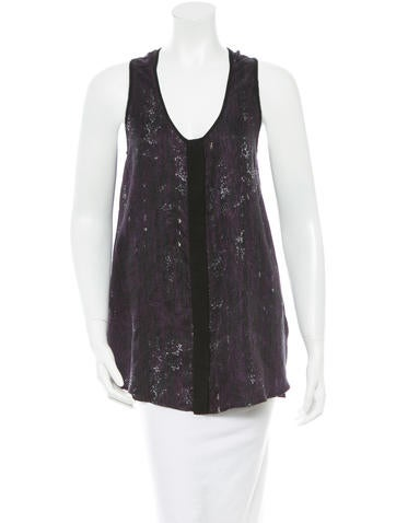 Rag & Bone Printed Sleeveless Top None