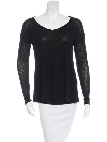 Rag & Bone Long Sleeve V-neck Top None