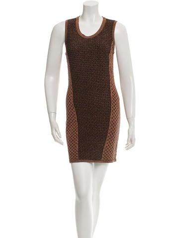 Rag & Bone Metallic Mini Dress None