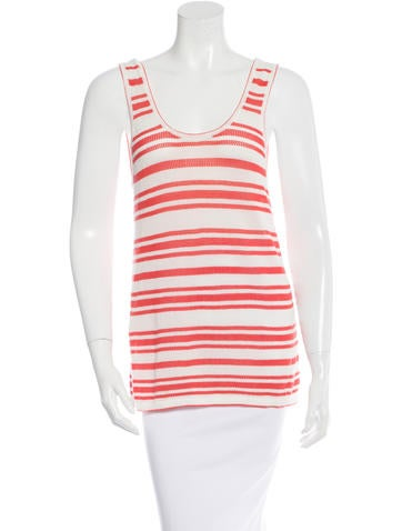 Rag & Bone Striped Knitted Sleeveless Top None