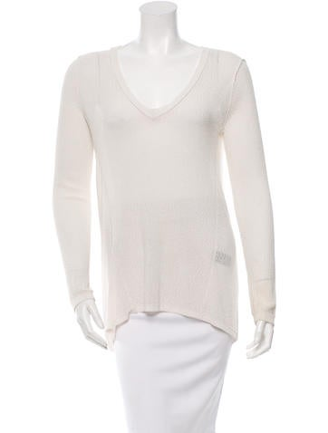 Rag & Bone High-Low Long Sleeve Top None