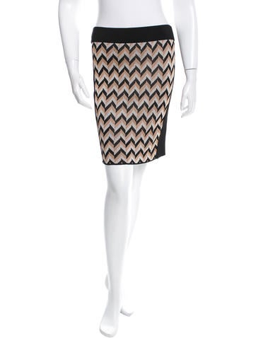 Rag & Bone Patterned Knit Mini Skirt w/ Tags None