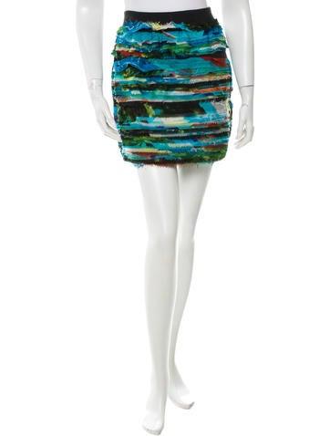 Rag & Bone Silk Mini Skirt None
