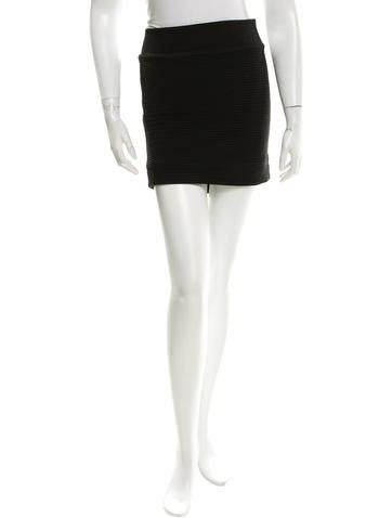 Rag & Bone Textured Mini Skirt None