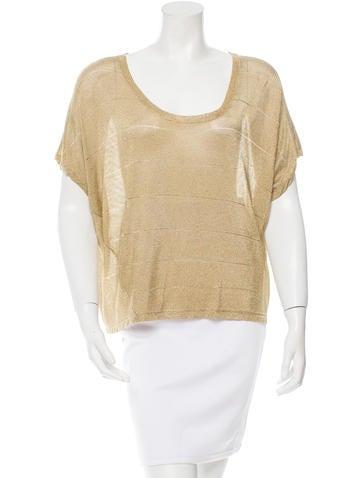 Rag & Bone Patterned Short Sleeve Top None