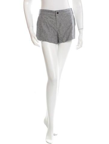 Rag & Bone Leather-Trimmed Mini Shorts