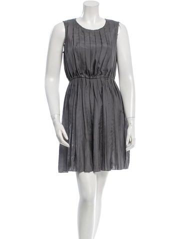 Rag & Bone Pleated Silk Dress