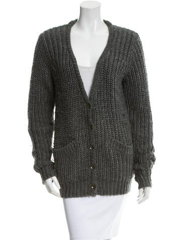 Rag & Bone Knit Button-Up Cardigan None