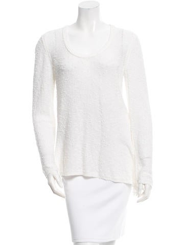 Rag & Bone Long Sleeve Rib Knit-Trimmed Sweater None