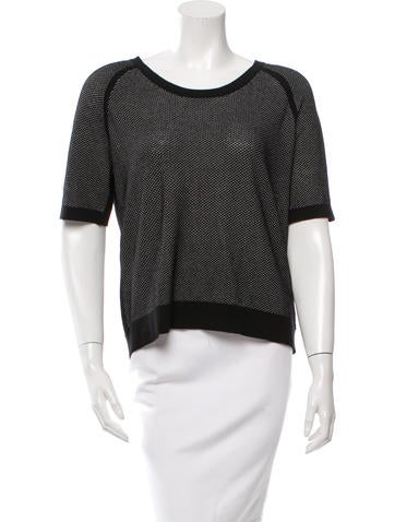 Rag & Bone Textured Short-Sleeve Top None