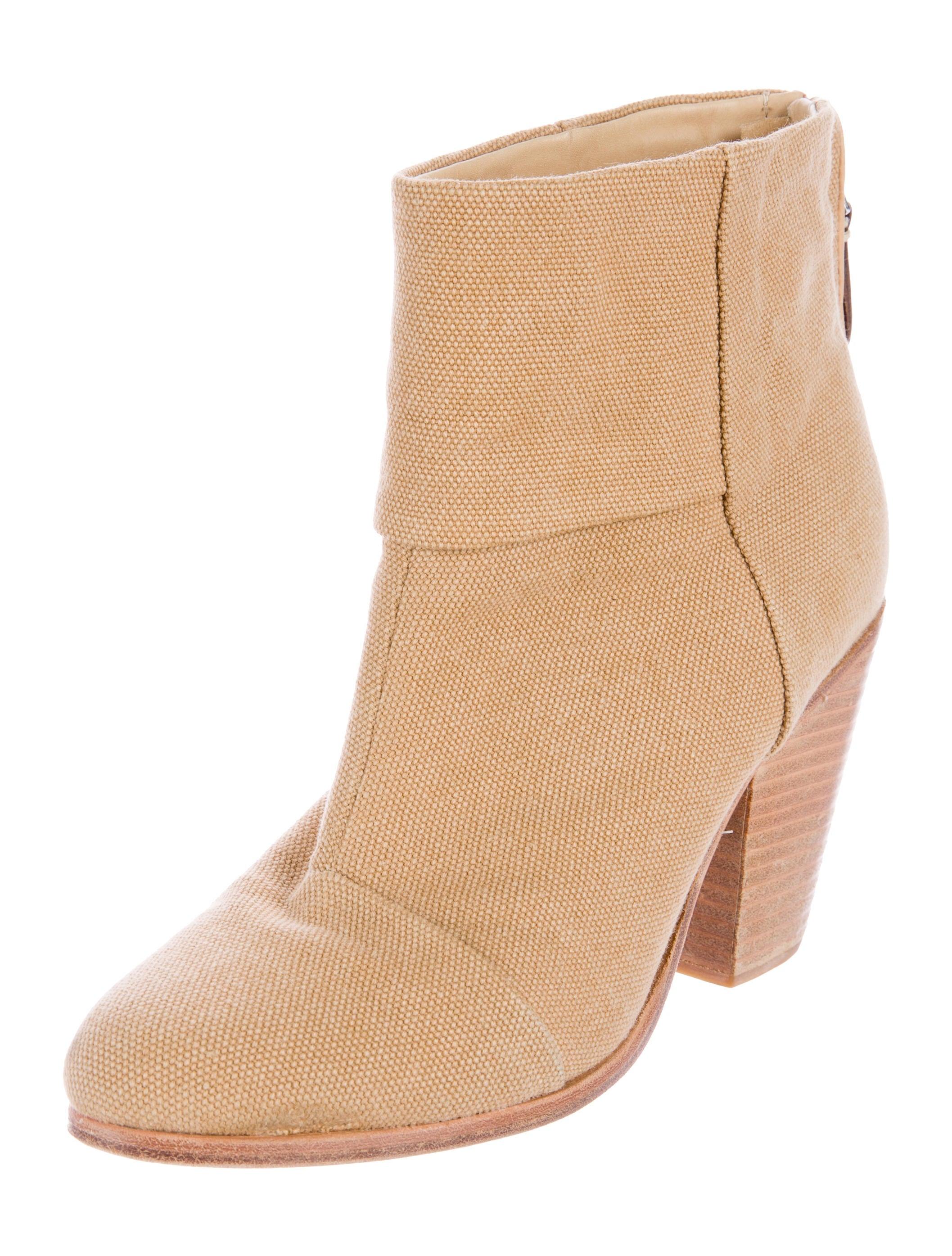 rag bone canvas newbury ankle boots shoes wragb50579