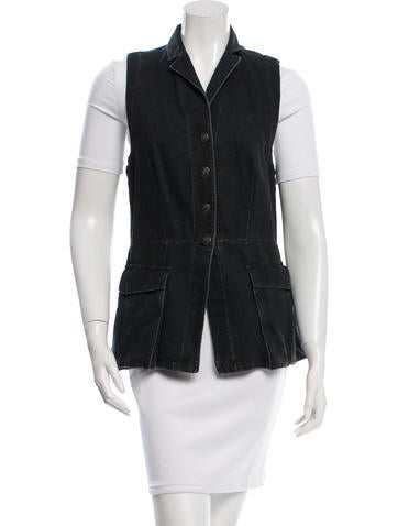 Rag & Bone Woven Flap Pocket Vest