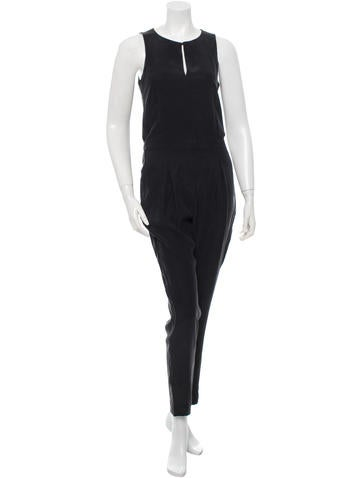 Rag & Bone Leather-Trimmed Jumpsuit w/ Tags None