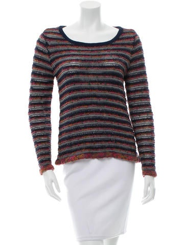 Rag & Bone Striped Crew Neck Top None