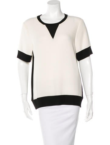Rag & Bone Colorblock Short Sleeve Top None