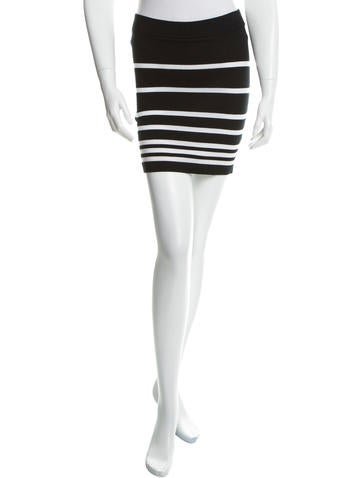 Rag & Bone Striped Bodycon Skirt None