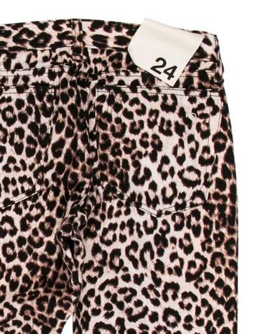 Rag & Bone Leopard Print Straight-Leg Jeans
