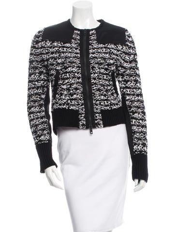 Rag & Bone Wool Rib Knit Jacket None