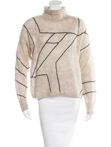 Rag & Bone Mohair & Alpaca-Blend Geometric Sweater None