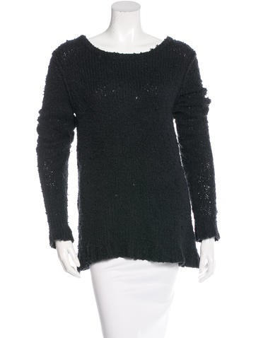 Rag & Bone Long Sleeve Rib Knit Sweater None