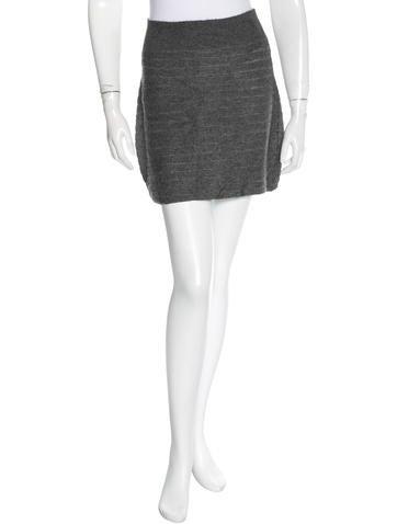 Rag & Bone Silk & Alpaca-Blend Mini Skirt None