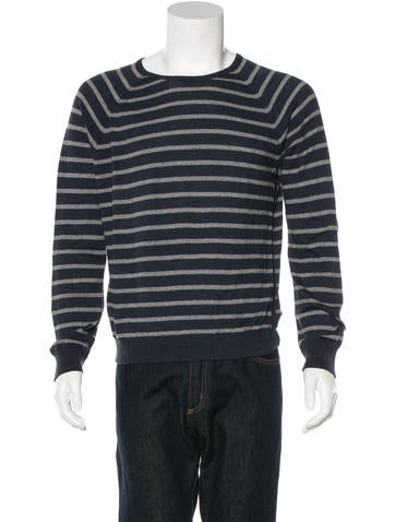 Rag & Bone Striped Crew Neck Sweater None