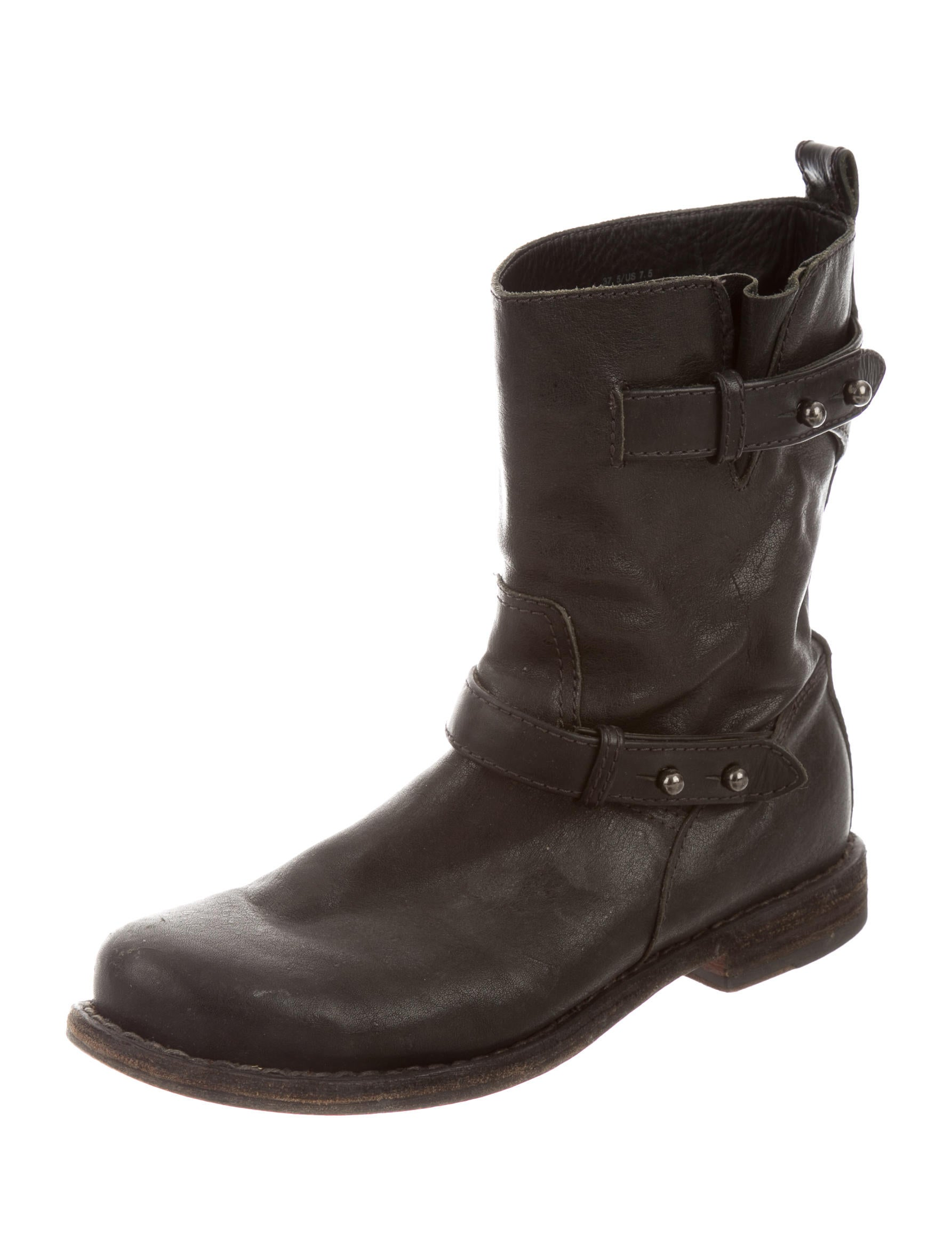 rag bone leather moto ankle boots shoes wragb54352